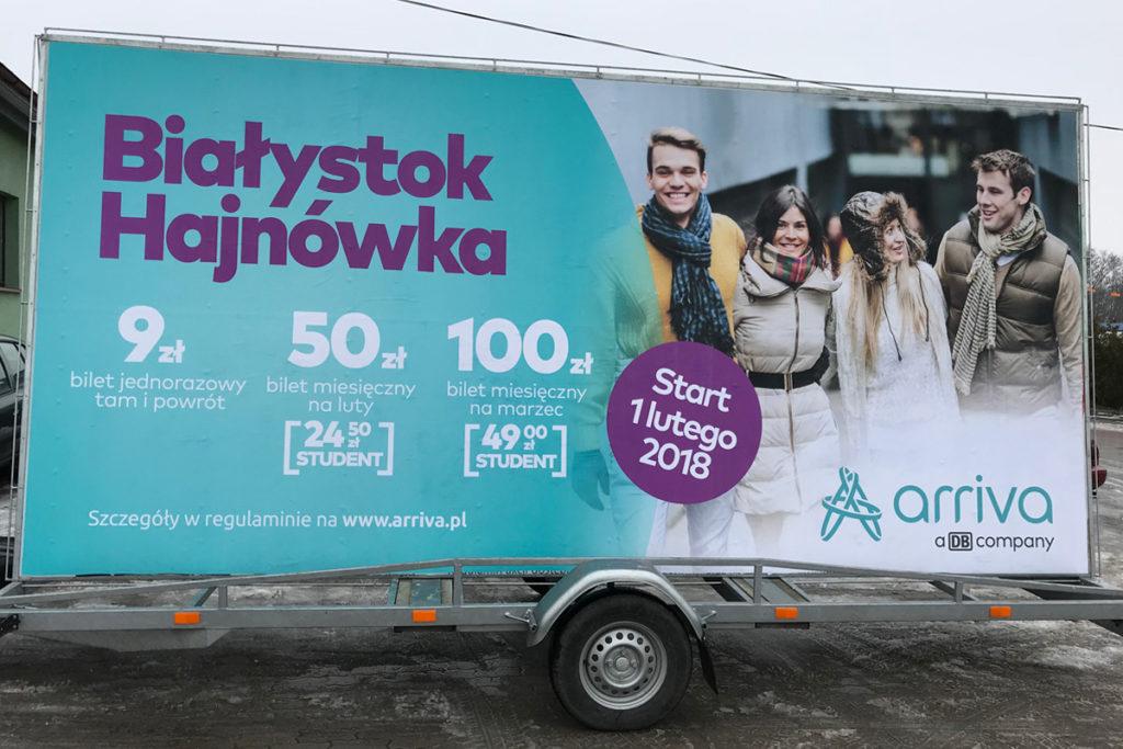 Reklama Mobilna - Białystok - Arriva