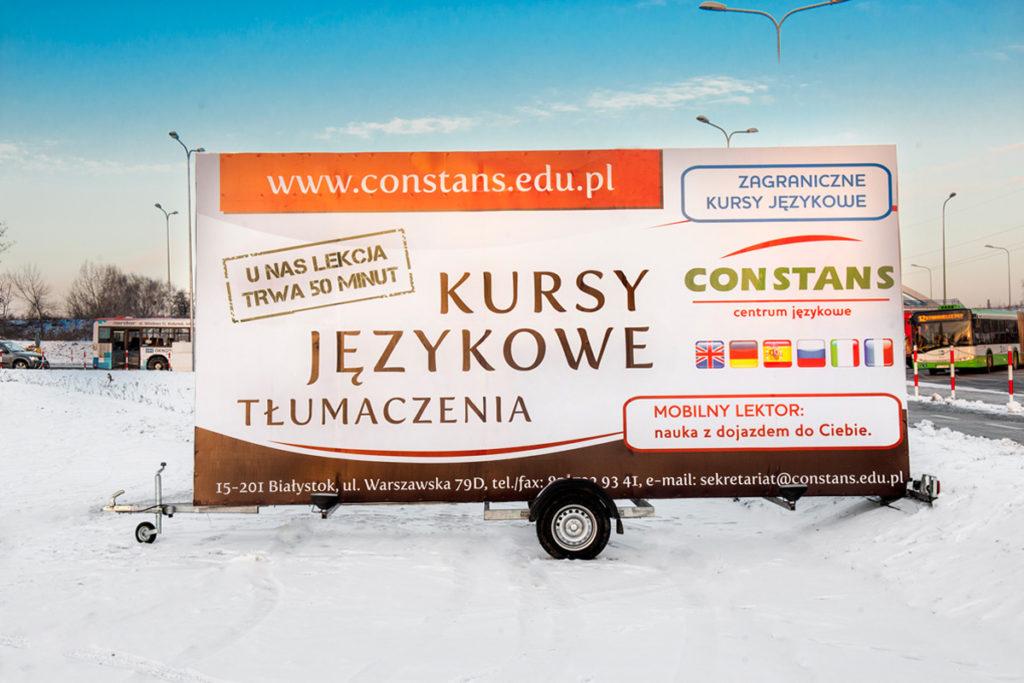 Reklama Mobilna - Białystok - Centrum Językowe
