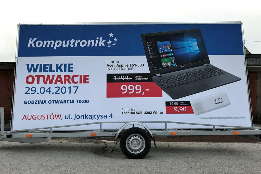Reklama Mobilna - Białystok - Komputronik
