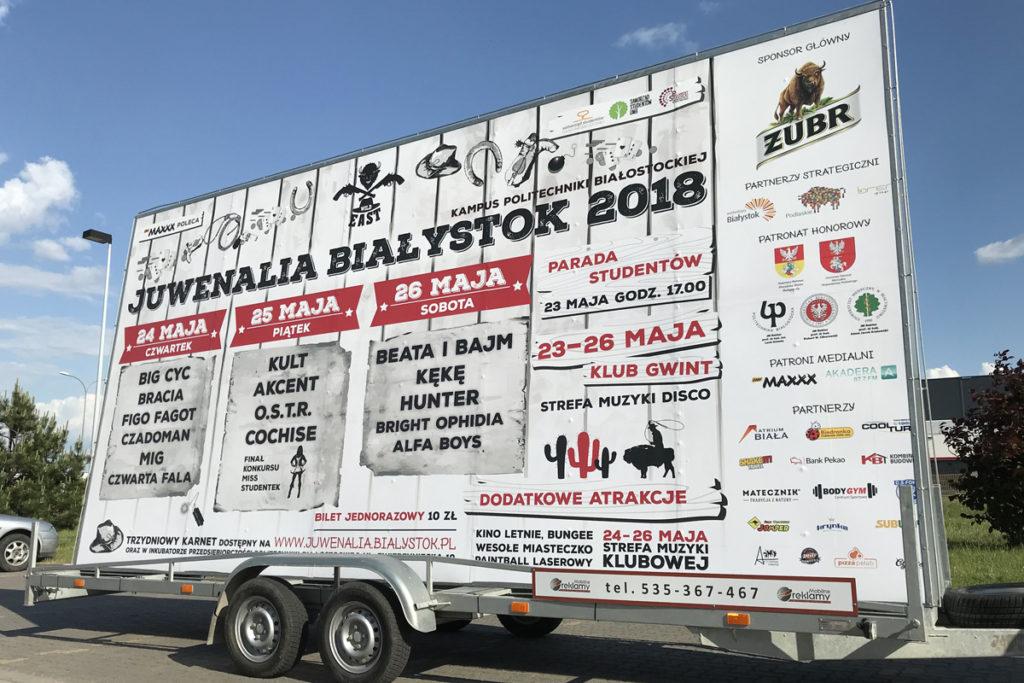 Reklama Mobilna - Białystok - Juwenalia
